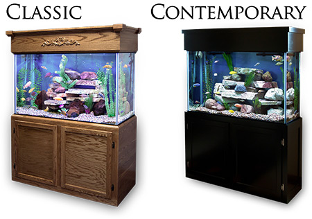 Stand / Canopy Stain Options & 300 Gallon* Glass Aquarium - 30