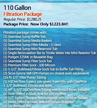 110 Gallon Filtration Package