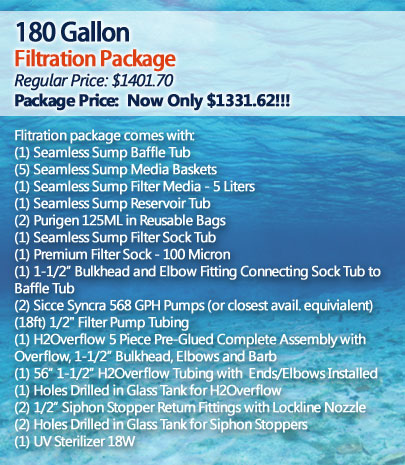 180 Gallon Filtration Package