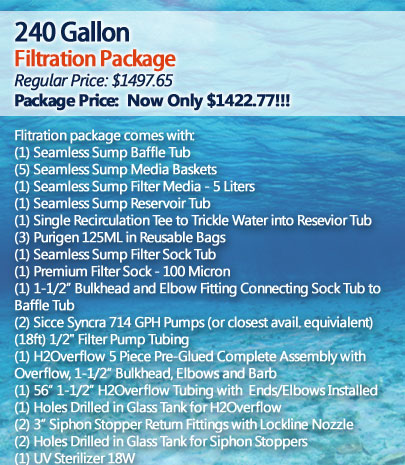 240 Gallon Filtration Package