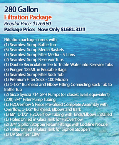 280 Gallon Filtration Package
