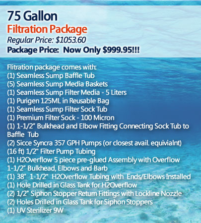 75 Gallon Filtration Package