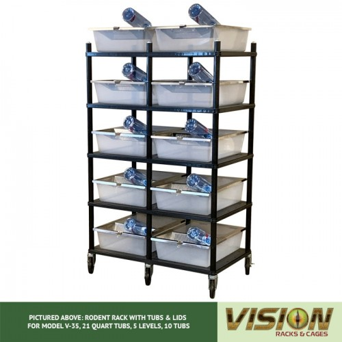 5 Level Rodent Breeding Rack (for Qty. 10, Model V-35, 21 Quart Tubs)