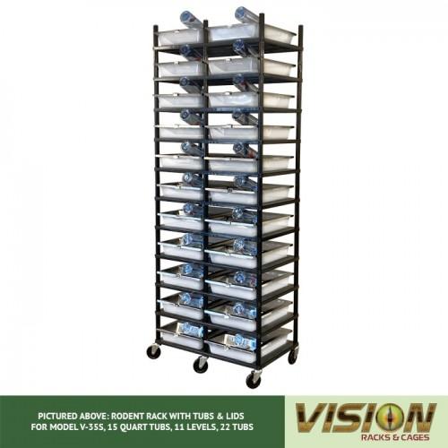 11 Level Rodent Breeding Rack (for Qty. 22, Model V-35s, 15 Quart Tubs)