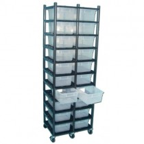 10 Level Breeding Rack (for Qty. 20, Sterilite 1753, 15 Quart Tubs)