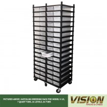 16 Level Hatchling Rack (for Qty. 64, Model V-18, 7 Quart Tubs)