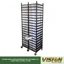 18 Level Hatchling Rack (for Qty. 72, Model V-18, 7 Quart Tubs)