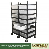 7 Level Breeding Rack (for Qty. 14, Model V-35, 21 Quart Tubs)