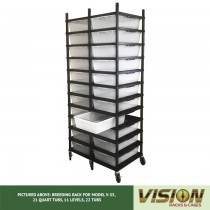 11 Level Breeding Rack (for Qty. 22, Model V-35, 21 Quart Tubs)