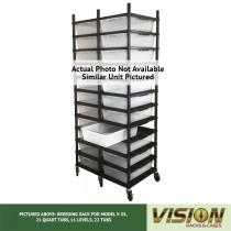 13 Level Breeding Rack (for Qty. 26, Model V-35, 21 Quart Tubs)