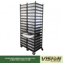 16 Level Breeding Rack (for Qty. 32, Model V-35s, 15 Quart Tubs)