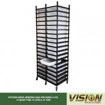 18 Level Breeding Rack (for Qty. 36, Model V-35s, 15 Quart Tubs)