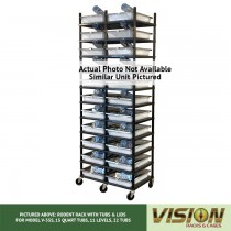 10 Level Rodent Breeding Rack (for Qty. 20, Model V-35s, 15 Quart Tubs)