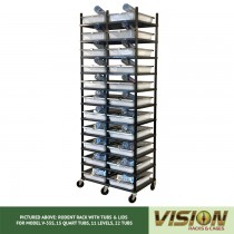 11 Level Rodent Breeding Rack (for Qty. 22, Model V-35s, 15 Quart Tubs)