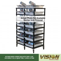 5 Level Rodent Breeding Rack (for Qty. 10, Model V-35s, 15 Quart Tubs)