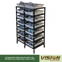 7 Level Rodent Breeding Rack (for Qty. 14, Model V-35s, 15 Quart Tubs)