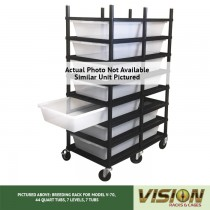5 Level Breeding Rack (for Qty. 5, Model V-70, 44 Quart Tubs)