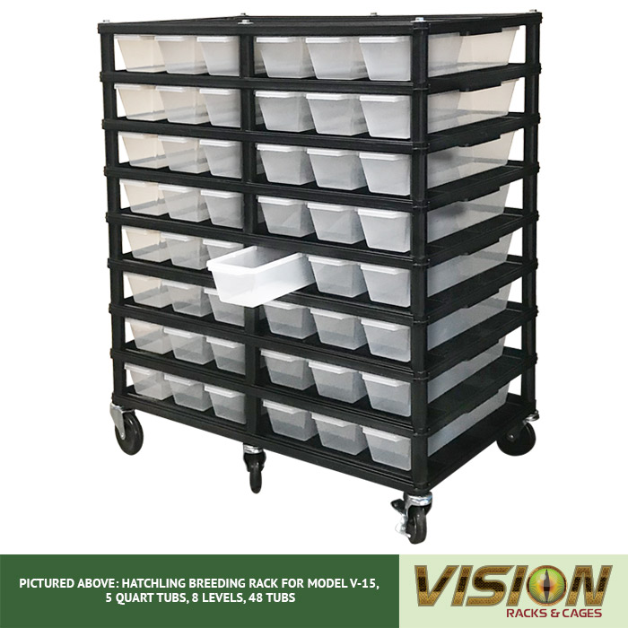 v-15 hatchling breeding racks