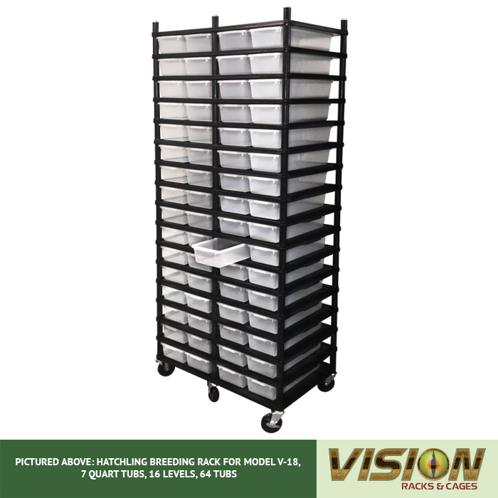 v-18 hatchling rodent breeding racks