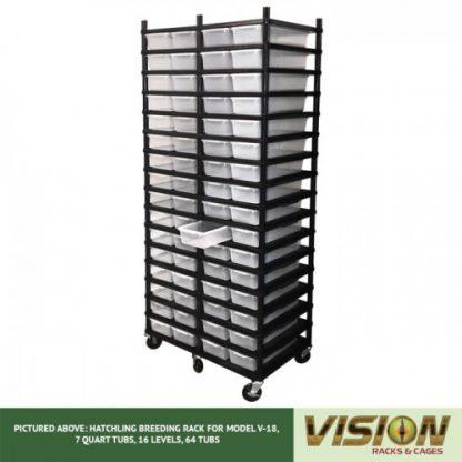 Vision Products 16 Level V-18 Hatchling Rack