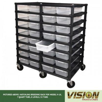 Vision Products 8 Level V-18 Hatchling Rack