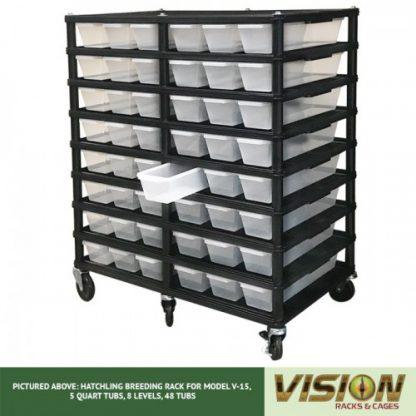 Vision Products 8 Level V-15 Hatchling Rack