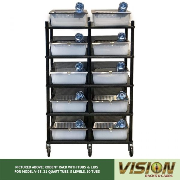 Vision Products V-35 5 Level Rodent Rack Front