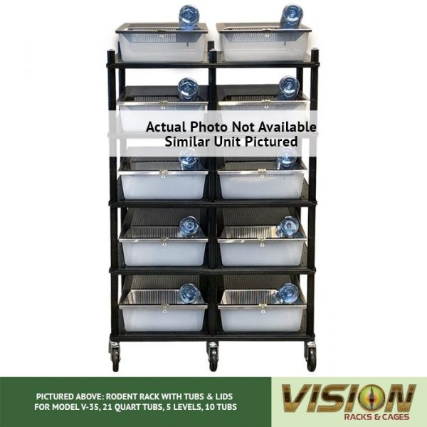 Vision Products V-35 4 Level Rodent Rack Front