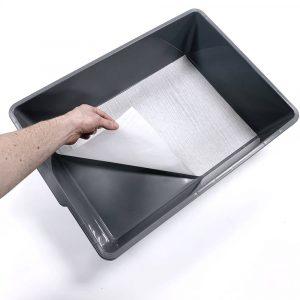V-28 breeding tub liner in gray tub