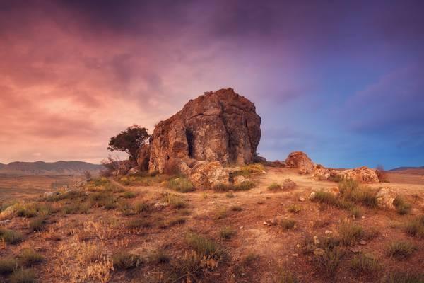 Desert Colorful Sky