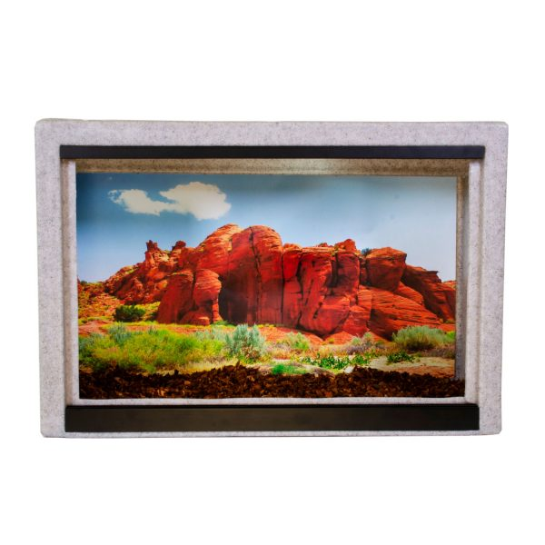 Vision Cage Model 215 - Classic Gray - Desert Rock Formations Background