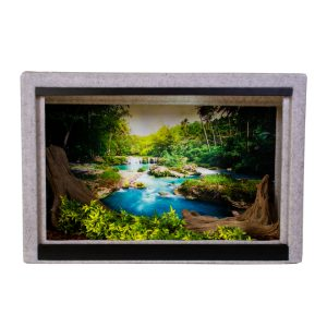 Vision Cage Model 215 - Classic Gray - Deep Forest Waterfall Background