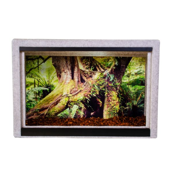 Vision Cage Model 215 - Classic Gray - Mossy Roots Background
