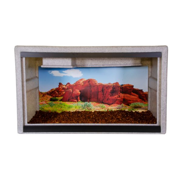 Vision Cage Model 322 - Classic Gray - Desert Rock Formations Background