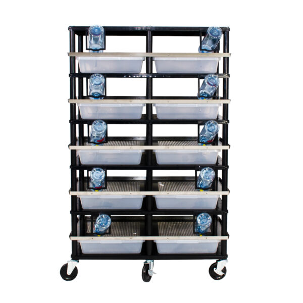 Vision Products 5 level rodent breeding rack for V-35S tubs - front