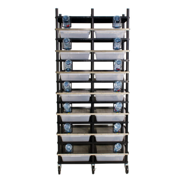 Vision Products 7 level rodent breeding rack for V-35S tubs - front