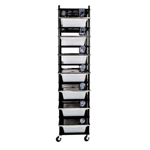 Vision Products 7 level rodent breeding rack for V-70 tubs - front