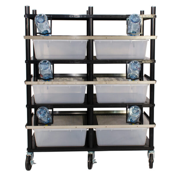 Vision Products 3 level rodent breeding rack for V-35 tubs - front