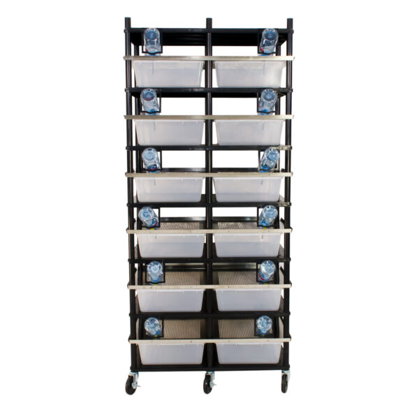 Vision Products 6 level rodent breeding rack for V-35 tubs - front