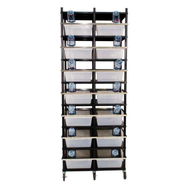 Vision Products 7 level rodent breeding rack for V-35 tubs - front
