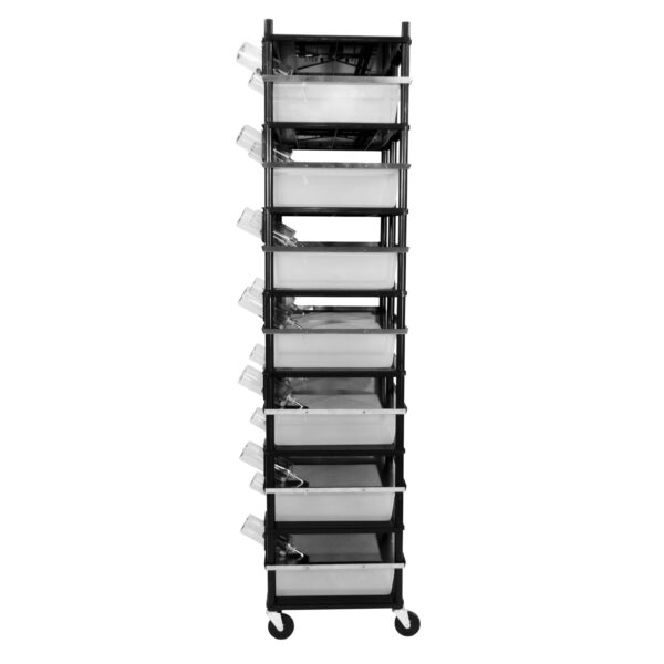Vision Products 7 level rodent breeding rack for V-35 tubs - side